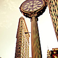 Flatiron Building And 5th Avenue Clock by Vivienne Gucwa
