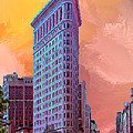 Flatiron Building At Sunset by Dominic Piperata