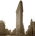 Flatiron Building New York City Circa 1904 by California Views Archives Mr Pat Hathaway Archives