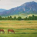Flatirons From Jay Road Horse Farm by Daniel Dayley