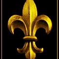 Fleur De Lis In Black And Gold by Carol Groenen