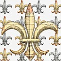 Fleur De Lys Silver And Gold by Barbara Chichester