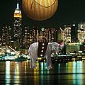 Flight Over The New York Skyline On A Hot Air Balloon by Marvin Blaine