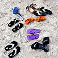 Flip Flops On The Beach by Thomas Marchessault