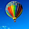 Floating Free In A Hot Air  Balloon by Robert Bales