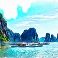 Floating In Ha Long by Scott Carruthers