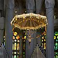 Floating Jesus Of The Sagrada Familia In Vertical  by Lorraine Devon Wilke