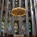 Floating Jesus Of The Sagrada Familia by Lorraine Devon Wilke