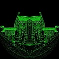 Floating Manor House In Green by James Potts