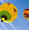 Floating Upward Hot Air Balloons by Bob Orsillo
