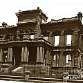 James Clair Flood Mansion Atop Nob Hill San Francisco Earthquake And Fire Of April 18 1906 by California Views Archives Mr Pat Hathaway Archives