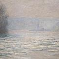 Floods On The Seine Near Bennecourt by Claude Monet