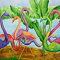 Floosie Flamingos by Rhonda Leonard
