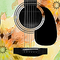 Floral Abstract Guitar 14 by Andee Design