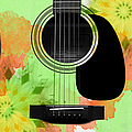 Floral Abstract Guitar 15 by Andee Design