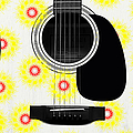 Floral Abstract Guitar 22 by Andee Design