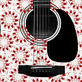 Floral Abstract Guitar 24 by Andee Design