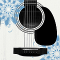 Floral Abstract Guitar 25 by Andee Design