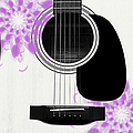 Floral Abstract Guitar 26 by Andee Design