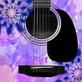 Floral Abstract Guitar 27 by Andee Design
