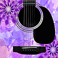 Floral Abstract Guitar 29 by Andee Design