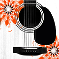 Floral Abstract Guitar 32 by Andee Design