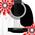 Floral Abstract Guitar 33 by Andee Design