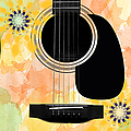 Floral Abstract Guitar 37 by Andee Design