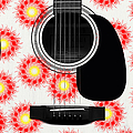 Floral Abstract Guitar 8 by Andee Design