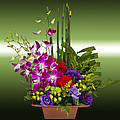 Floral Arrangement - Green by Chuck Staley