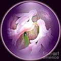 Floral Crystal Ball by Judy Palkimas