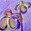 Lavender Abstract Flowers No 8  by Patricia Awapara