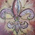 Floral De Lis by Mary DeSilva