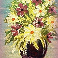 Floral Delight Acrylic Painting by Bobbee Rickard