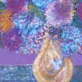 Floral Fantasy Blue by Anne-Elizabeth Whiteway