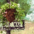 Floral - Flowers - One Way by Liane Wright