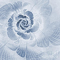 Floral Impression Cyanotype by John Edwards