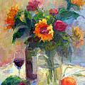 Floral Paintings Fp18 by Munir Alawi
