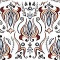 Floral Pattern I by Irina Sztukowski