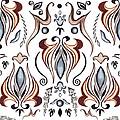 Floral Pattern II by Irina Sztukowski