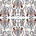 Floral Pattern IIi by Irina Sztukowski