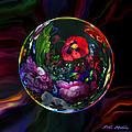 Floral Still Life Orb by Robin Moline