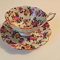 Floral Tea Cup by Juanita  Albert