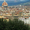 Florence Italy Panoramic by Mike Nellums