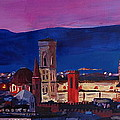 Florence Skyline Italy With Santa Maria Del Fiore by M Bleichner