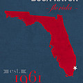 Florida Atlantic University Owls Boca Raton College Town State Map Poster Series No 037 by Design Turnpike