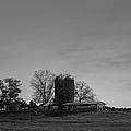 Florida Farmlands Black And White by Debra Forand