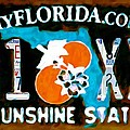 Florida License Plate by Jeelan Clark