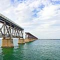 Florida Overseas Railway Bridge Near Bahia Honda State Park by Adam Romanowicz