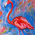 Florida Pink Flamingo - Modern Impressionist Art by Patricia Awapara